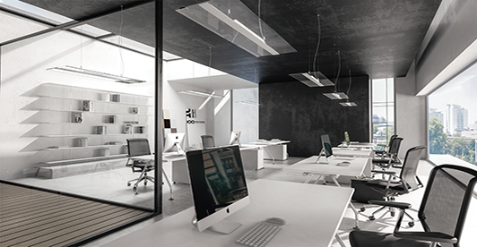 Active light from zumtobel brings the effect of daylight into the office supports the natural bio rhythm and in turn increases the satisfaction of office
