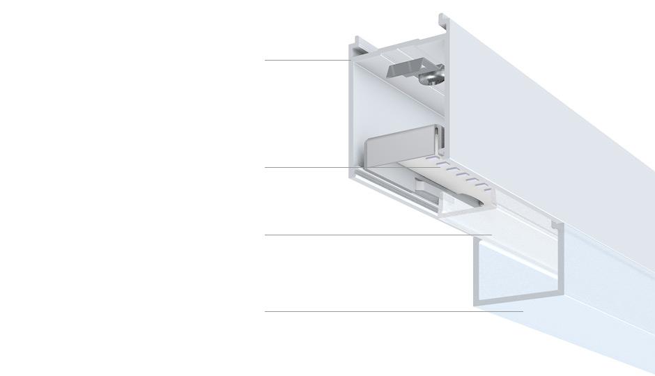 linaria individual batten luminaire and light line zumtobel. Black Bedroom Furniture Sets. Home Design Ideas