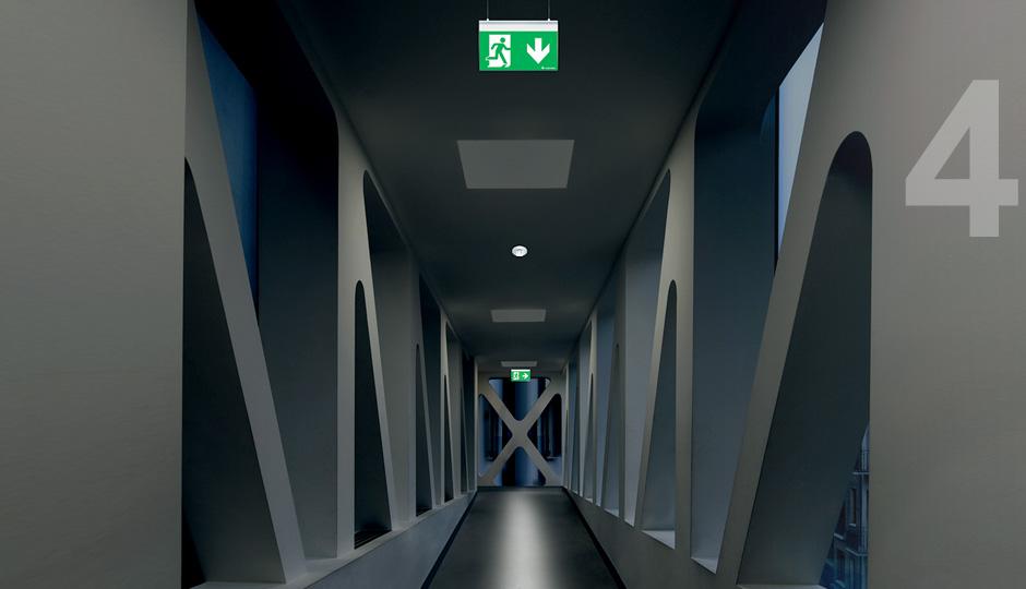 Emergency luminaires as part of general lighting & The benefits of intelligent lighting management - Zumtobel azcodes.com