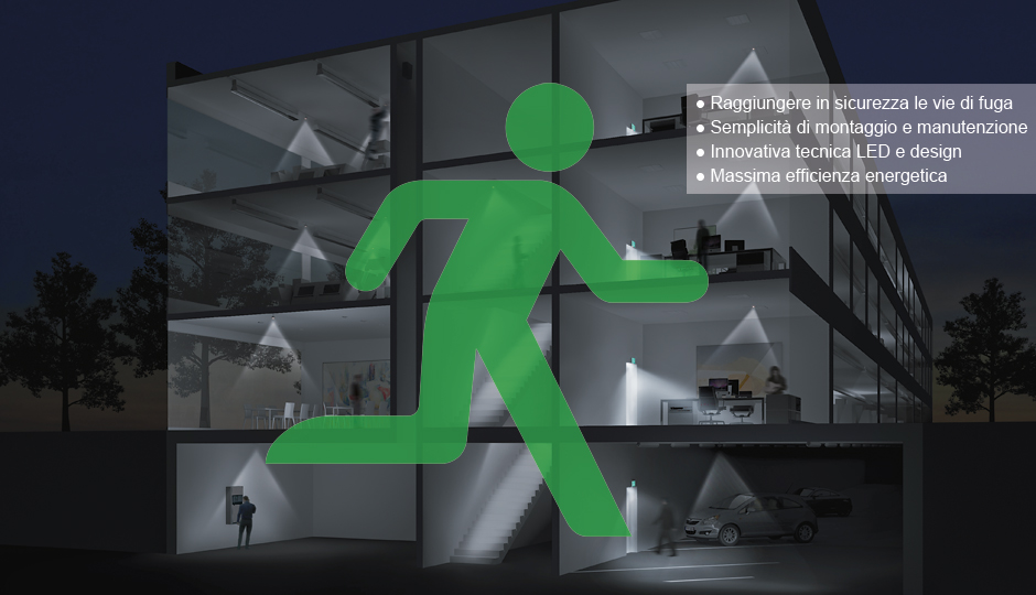 Illuminazione Emergenza Ristorante : Sistemi per luce di emergenza zumtobel