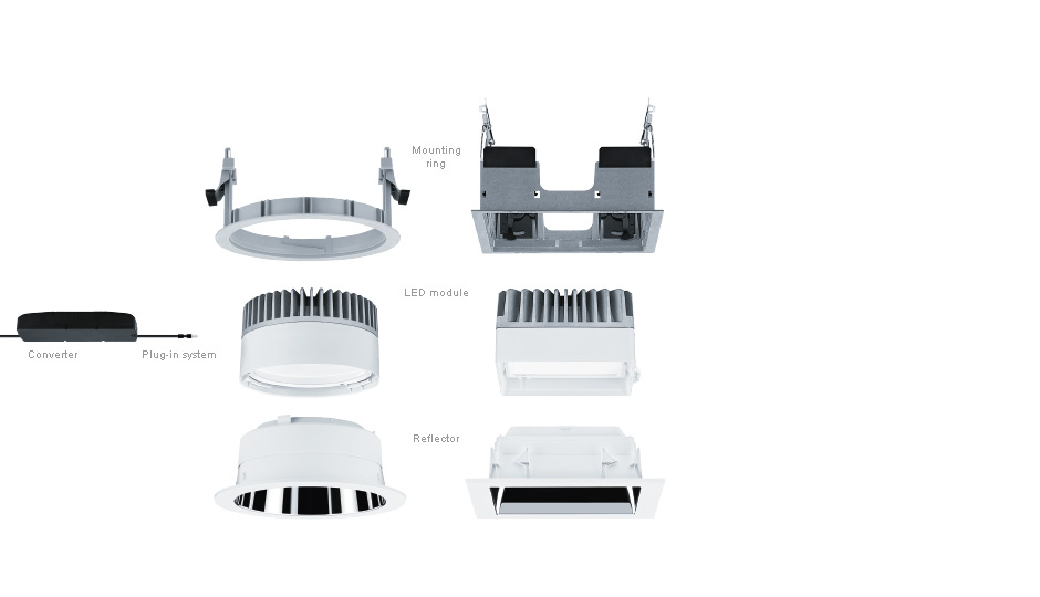 panos infinity evolution q led downlight range zumtobel. Black Bedroom Furniture Sets. Home Design Ideas