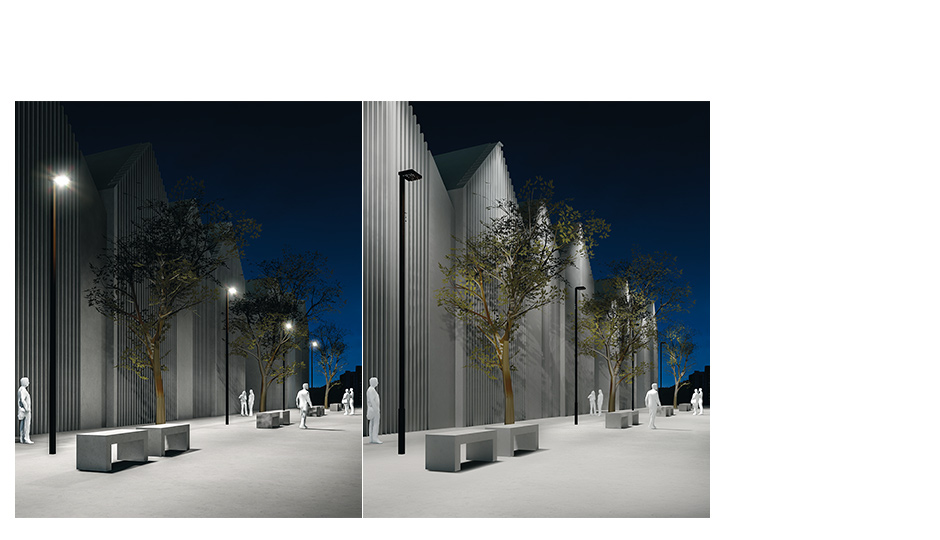 Supersystem outdoor a luminaire to illuminate paths for Luminaire outdoor design