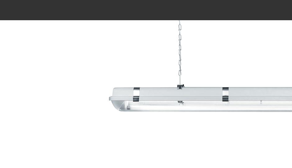 Scuba ip65 led t16 t26 moisture proof luminaire zumtobel for Kit suspension luminaire